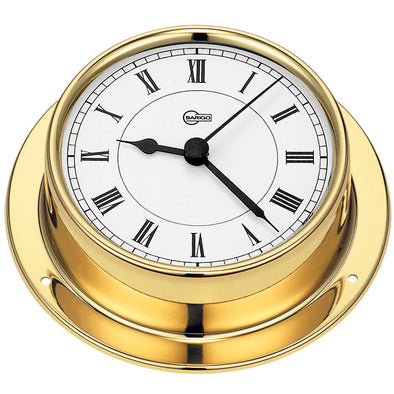 "BARIGO Tempo Series Quartz Ship's Clock - Brass Housing - 3.3"" Dial"