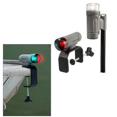 Attwood PaddleSport Portable Navigation Light Kit - C-Clamp, Screw Down or Adhesive Pad - Gray
