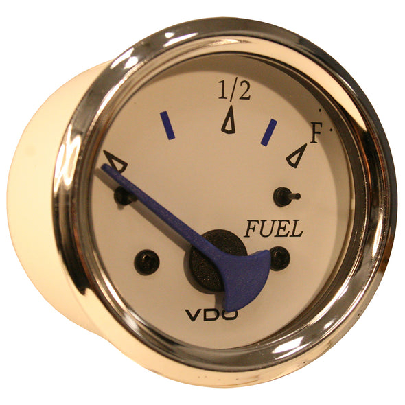 VDO Allentare White Fuel Level Gauge - Use w/Marine 240-33 Ohm Fuel Senders - 12V