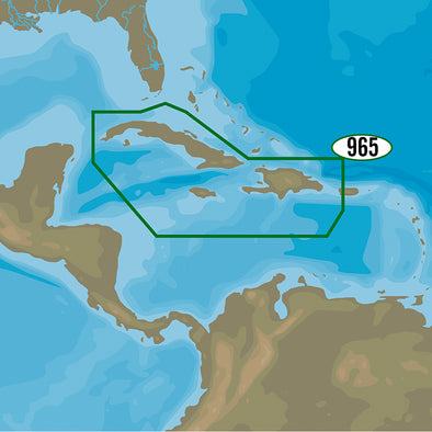 C-MAP 4D NA-D965 - Cuba, Dominican Republic, Caymans & Jamaica