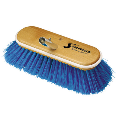 "Shurhold 10"" Extra-Soft Deck Brush - Blue Nylon Bristles"