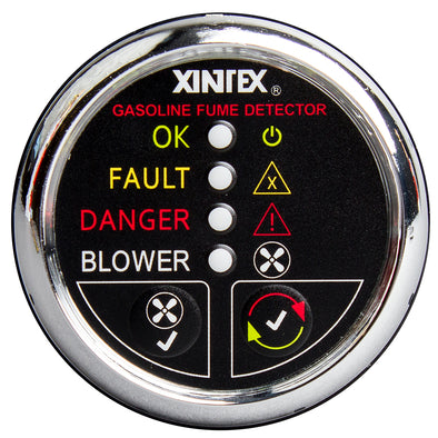 Xintex Gasoline Fume Detector & Blower Control w/Plastic Sensor - Chrome Bezel Display