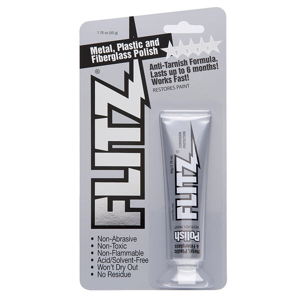Flitz Polish - Paste - 1.76oz Tube - 6-Pack