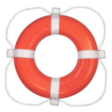 "Taylor Made Foam Ring Buoy - 30"" - Orange w/White Rope"