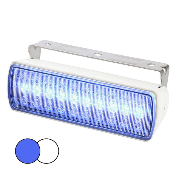 Hella Marine Sea Hawk XL Dual Color LED FloodLights - Blue/White LED - White Housing