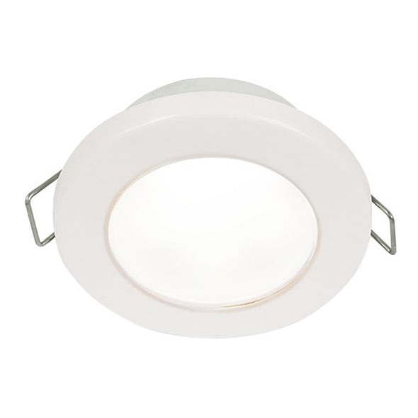 "Hella Marine EuroLED 75 3"" Round Spring Mount Down Light - White LED - White Plastic Rim - 12V"