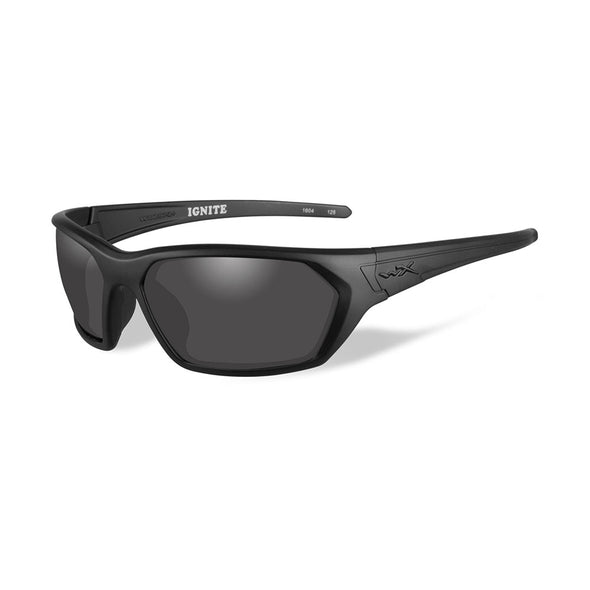 Wiley X Ignite Sunglasses - Smoke Grey Lens - Matte Black Frame - Black Ops