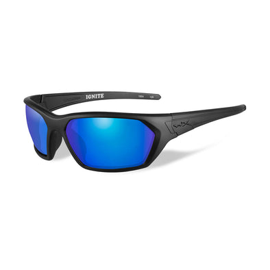 Wiley X Ignite Sunglasses  - Polarized Blue Mirror Lens - Matte Black Frame