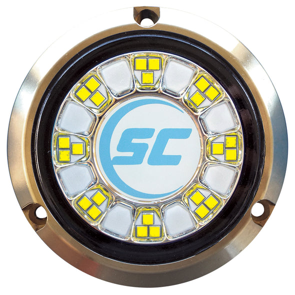 Shadow-Caster SCR-24 Bronze Underwater Light - 24 LEDs - Bimini Blue/Great White