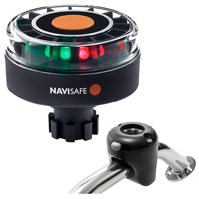 Navisafe Navilight Tricolor 2NM w/Navibolt Base & Rail Mount - Black