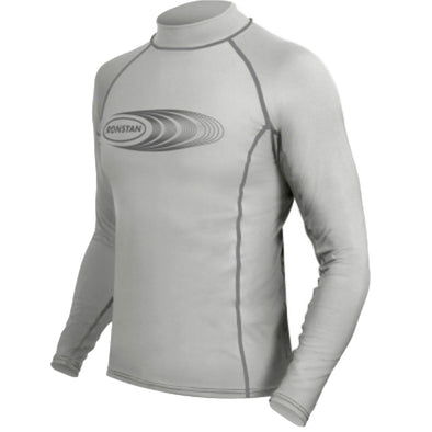 Ronstan Long Sleeve Rash Guard Top - UPF50+ - Ice Grey - Small