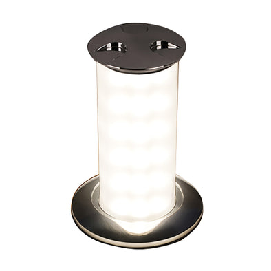 Quick Secret 6W Retractable Lamp w/Automatic Switch IP66 Mirrored Chrome Finish - Daylight White LED