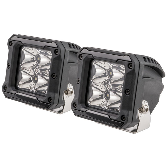 "HEISE 4 LED Cube Light w/Harness - Spot Beam- 3"" - 2 Pack"
