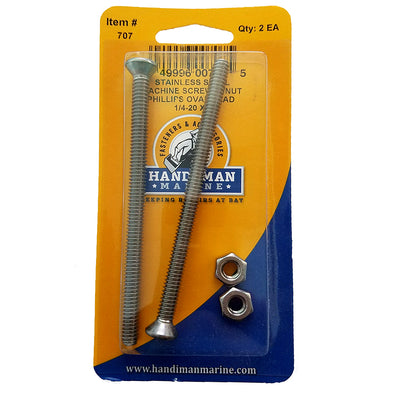 Handi-Man Phillips Machine Oval Screw - 1/4-20 x 4