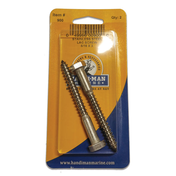Handi-Man Stainless Steel Lag Screw - 3/8 x 2