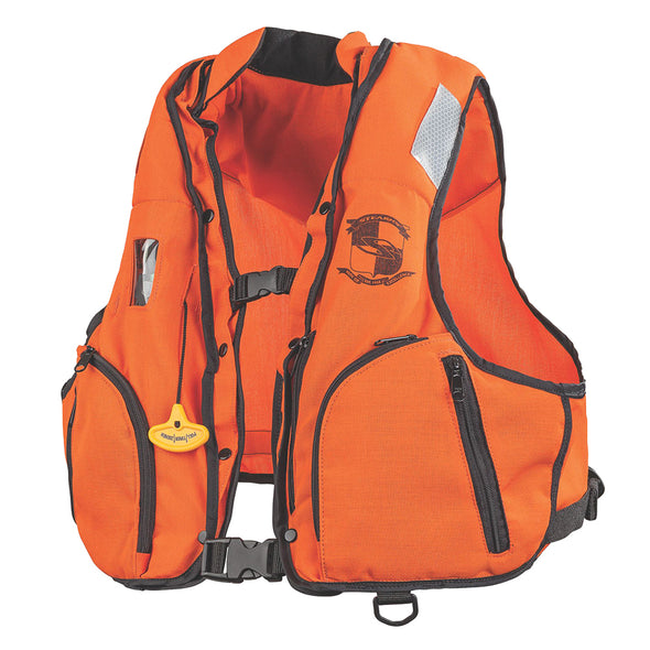 Stearns Manual Inflatable Vest w/Nomex® Fabric - Orange/Black - S/M