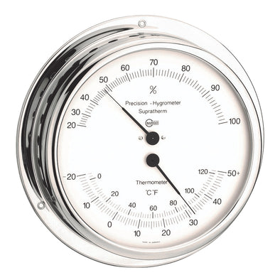BARIGO Hygro-/Thermometer - Chromed Brass