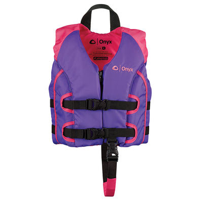 Onyx All Adventure Child Life Jacket - Child 30-50lbs - Purple/Pink