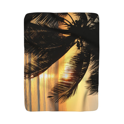 Tulum Sunrise Sherpa Fleece Blanket