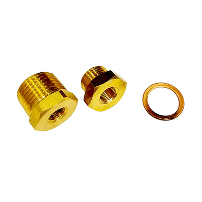 "Faria 1/8"" x 1'2"" NPTF 1/8"" x 5/8"" Bushing Kit"