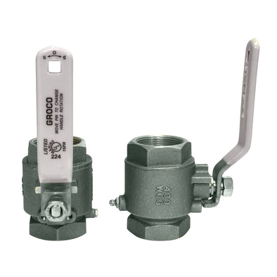 "GROCO 1-1/2"" NPT Stainless Steel In-Line Ball Valve"
