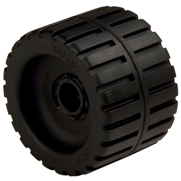 "C.E. Smith Ribbed Wobble Roller 4-3/8"" - 3/4""ID w/Bushing Black"
