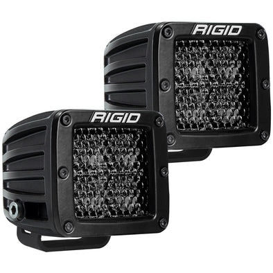 RIGID Industries D-Series Pro Spot Diffused Midnight Surface Mount - Pair
