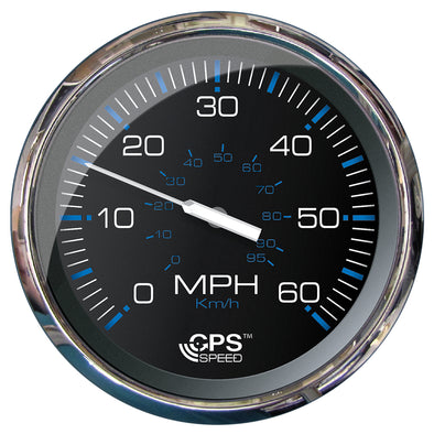 "Faria 5"" Speedometer (60 MPH) GPS (Studded) Chesapeake Black w/Stainless Steel"