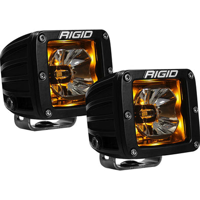 RIGID Industries Radiance™ Pod Amber Backlight Black Housing - Pair