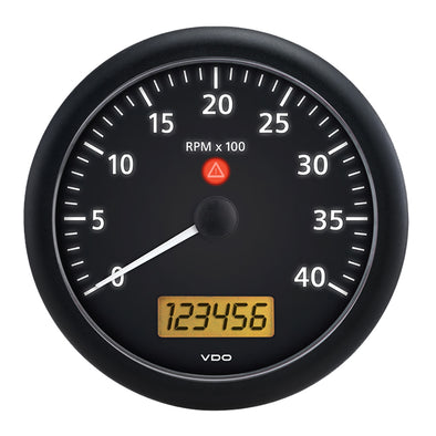 "VDO Viewline 4-3/8"" (110MM) Onyx 4000 RPM Tachometer w/Multifunction LCD - Black"