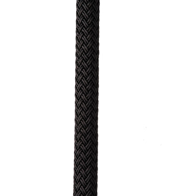 "New England Ropes 3/8"" X 15' Nylon Double Braid Dock Line - Black"