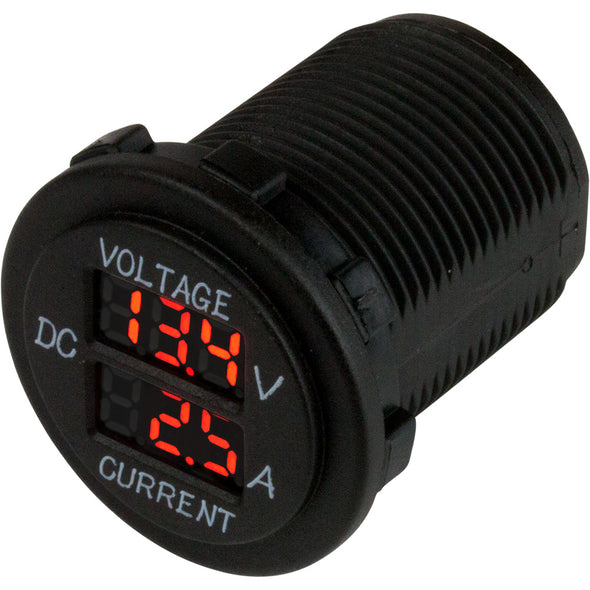Sea-Dog Round Voltage & Amp Meter - 6V-30V & 0 Amp - 10 Amp Meter