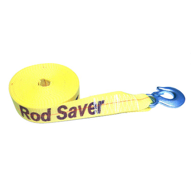 "Rod Saver Heavy-Duty Winch Strap Replacement - Yellow - 2"" x 25'"