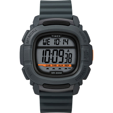 Timex DGTL BST.47 Boost Shock Watch - Grey/Orange