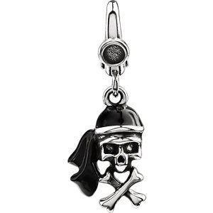 Enamel Pirate Skull Charm