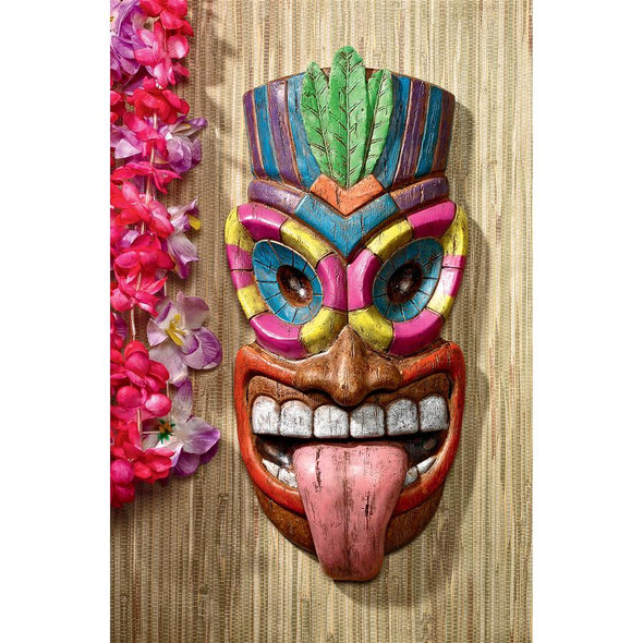 Haika L Ole Tiki Face Plaque