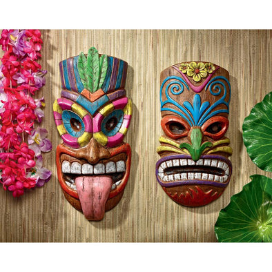 S/2 Tiki Face Plaques