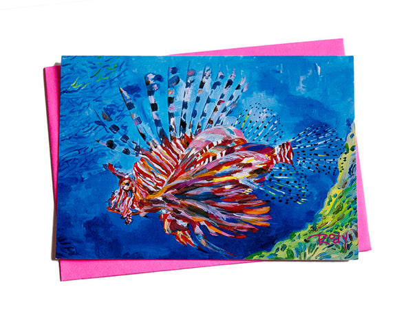 Bubbas Lionfish Note Card