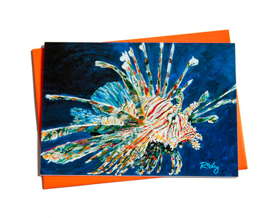 Dales Lionfish Note Card