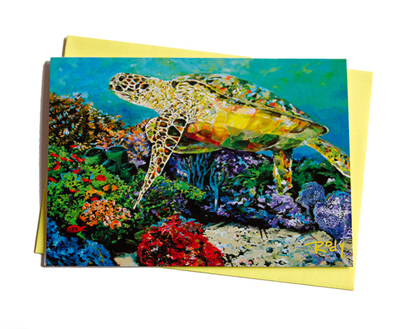 Doreens Sea Turtle Note Card