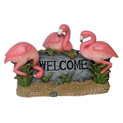 Pink Flamingo Welcome Sign
