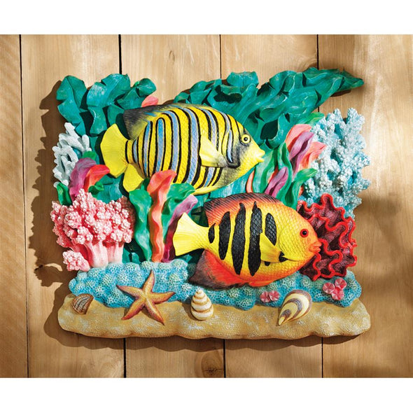 Majestic Striped Angelfish Plaque