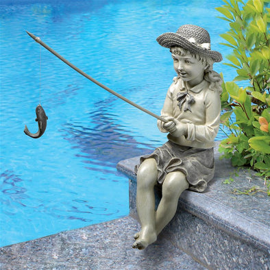 Nellies Big Catch Fisherwoman Statue