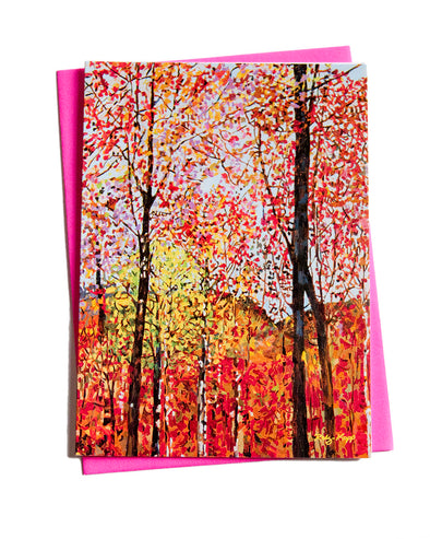 Fall confetti Note Card