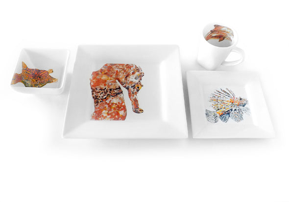 Seahorse 4-Piece Place Setting