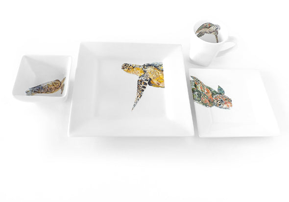 Her Majesty Sea Turtle 4-Piece Place Setting