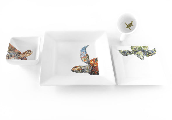Out of the Blue Sea Turtle 4-Piece Place Setting