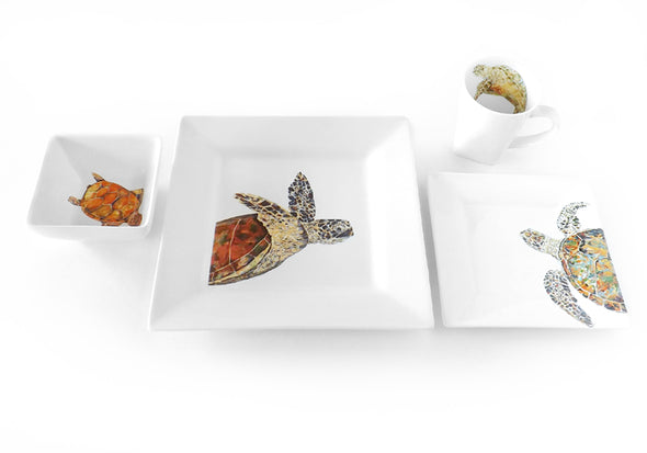 Reef Time Sea Turtle 4-Piece Place Setting