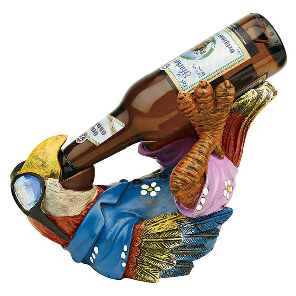 Beer Buddy Tiki Parrot Statue