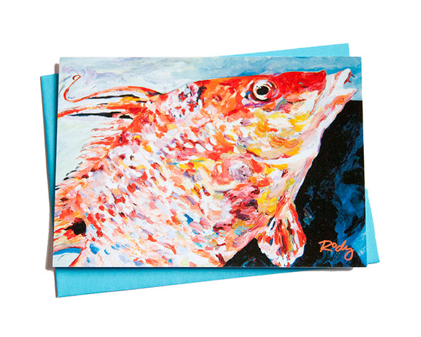 Hogfish on Deck Note Card